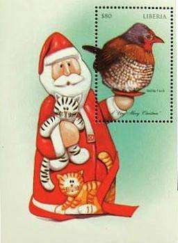Kunioの世界の切手紹介と海外写真集      マンガや娯楽・玩具の切手|クリスマス:サンタクロース (英: Santa Claus) の切手 レイモンド・ブリッグズ      最初のサンタクロース切手は、キューバが1954年に発行 プレゼントを沢山持ったサンタクロースの図案が多い