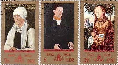 クラナッハ 東ドイツ ルネサンス マルガレーテ・... 天才が跋扈したルネサンス時代の美術切手