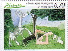 ピカソ 絵画切手 フランス(1998年)
