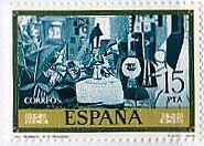 ピカソ 絵画切手 スペイン