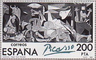 ピカソ 絵画切手 スペイン発行 ゲルニカ