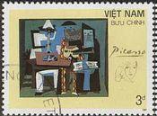 『3人の音楽家』(ベトナム) パブロ・ピカソ 絵画