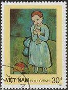 『鳩を持つ子供』(ベトナム) パブロ・ピカソ 絵画