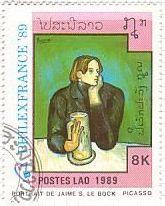 ピカソ 絵画切手『ジェイミ(Jaime)の肖像』