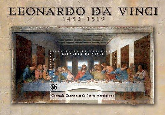 最後の晩餐 美術切手|キリスト教絵画を見る為の新約聖書・『マタイによる福音書』、『マルコによる福