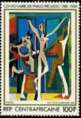 『三人の踊り子』(マリ、1981年)ピカソ