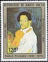 『ピカソの自画像』(オート・ボルタ、1983年)