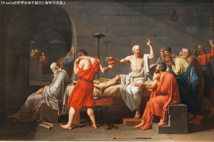 Jacques-Louis David, The Death of Socrates, 1787  ジャック=ルイ・ダヴィッド|ソクラテスの死