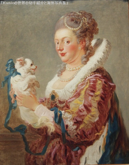 フラゴナール(Fragonard )|Portrait of a Woman with a Dog, ca. 1769