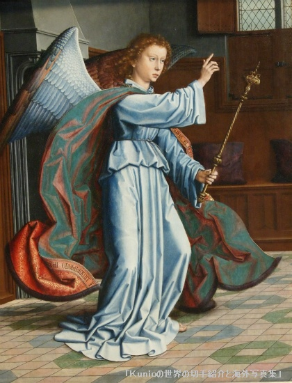 The Annunciation, parts of a polyptych, 1506 Gerard David (Netherlandish)
