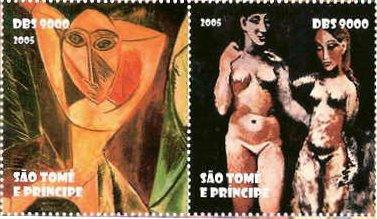 ピカソの絵画 全て女性を表現してますが非常に穏やかな温かみを感じます(セント・トーマス、2005年)