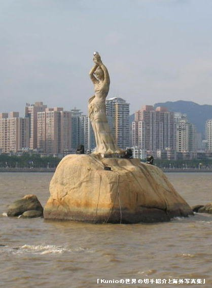 The Statue of Guan Yin, a blend between the traditional images of the bodhisattva Guan Yin and Holy Mary.