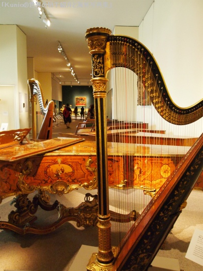 ハープ|Pedal harp, 1891-95 Lyon & Healy, Chicago Wood, metal